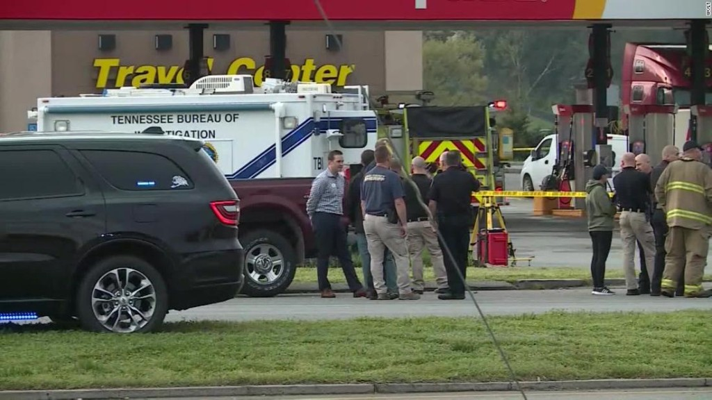 A truck driver stabs four women, killing three, at a Tennessee truck stop, officers say