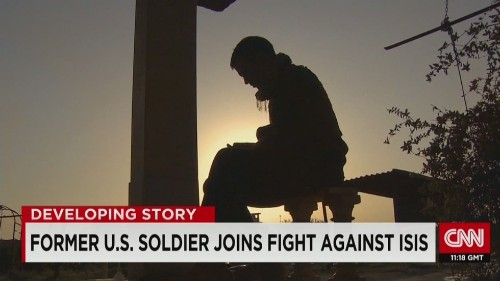 'At peace' in war: A former U.S. soldier battles ISIS