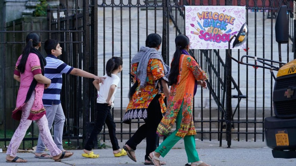 New York City elementary schools reopen for in-person classes