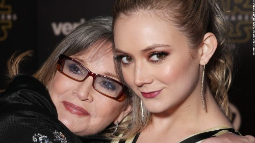 Billie Lourd honors late mom Carrie Fisher two years after her death
