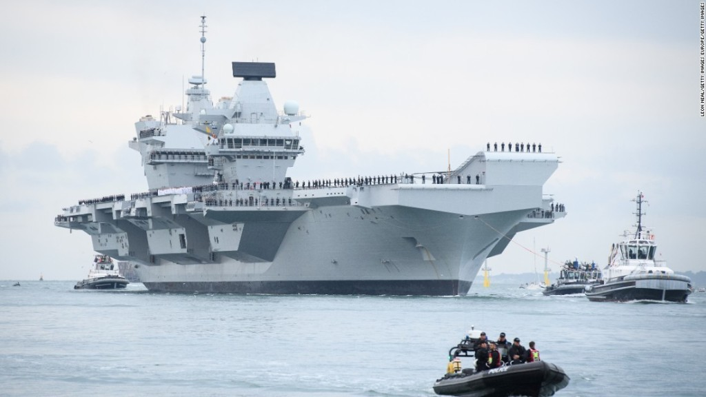 Britain to send aircraft carrier to Pacific on first operational mission as it tries to increase global military role post-Brexit