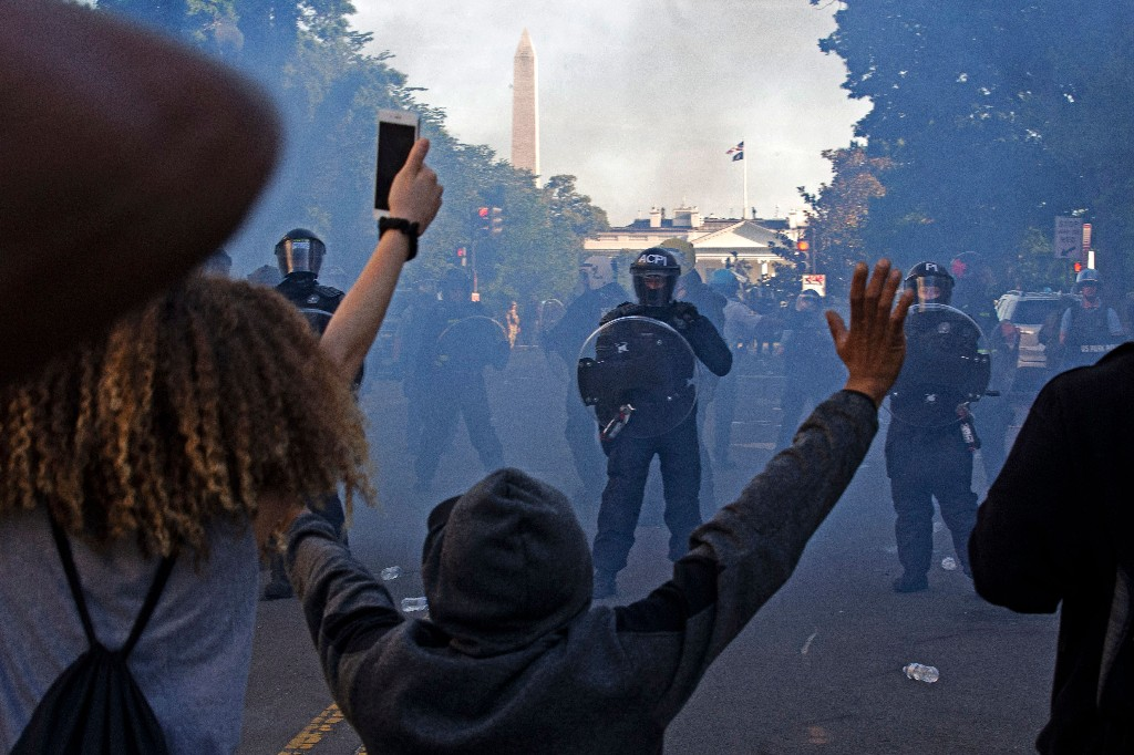 """Trump declares """"domination"""" in DC after federal law enforcement tear gassed peaceful protestors"""