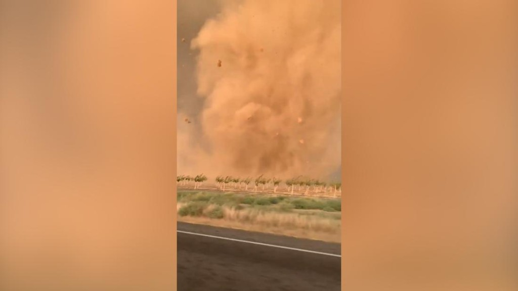 California city hit by series of weird weather events, including tornado and hail