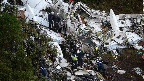 Colombia plane crash: 71 dead on Brazil soccer team's charter flight