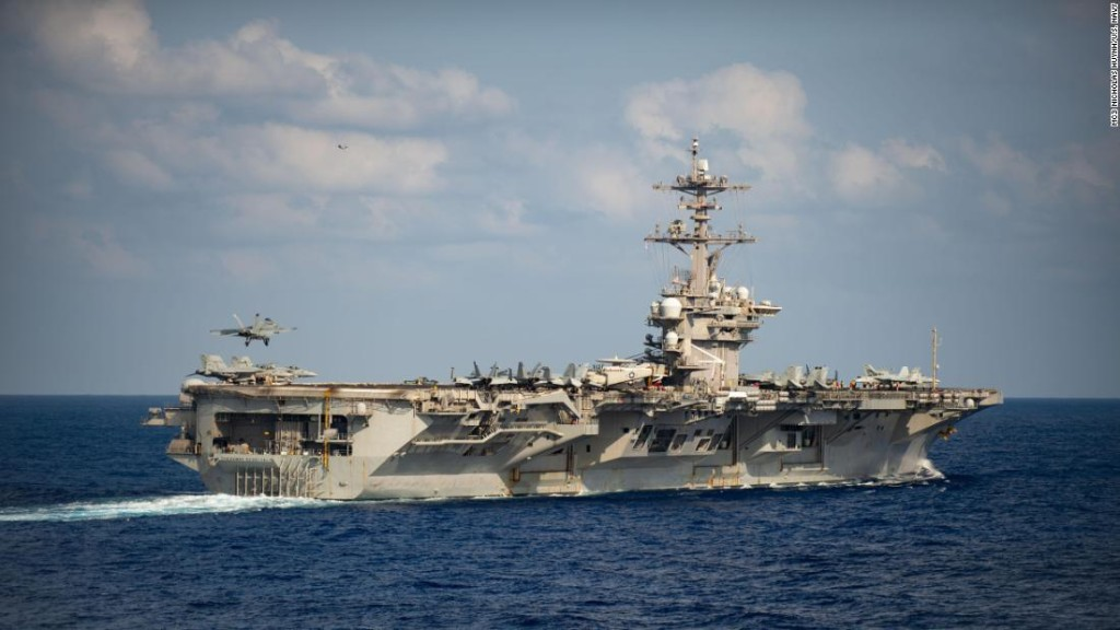 Sailors cheer for aircraft carrier commander who was removed after issuing coronavirus warning