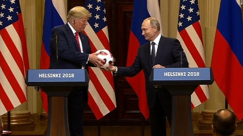 Putin gave Trump a soccer ball that may have a transmitter chip