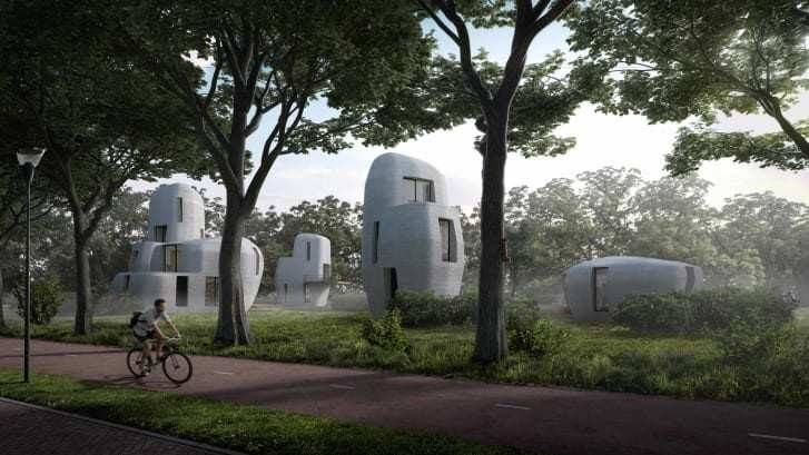 A small community of 3D-printed concrete houses is coming to the Netherlands