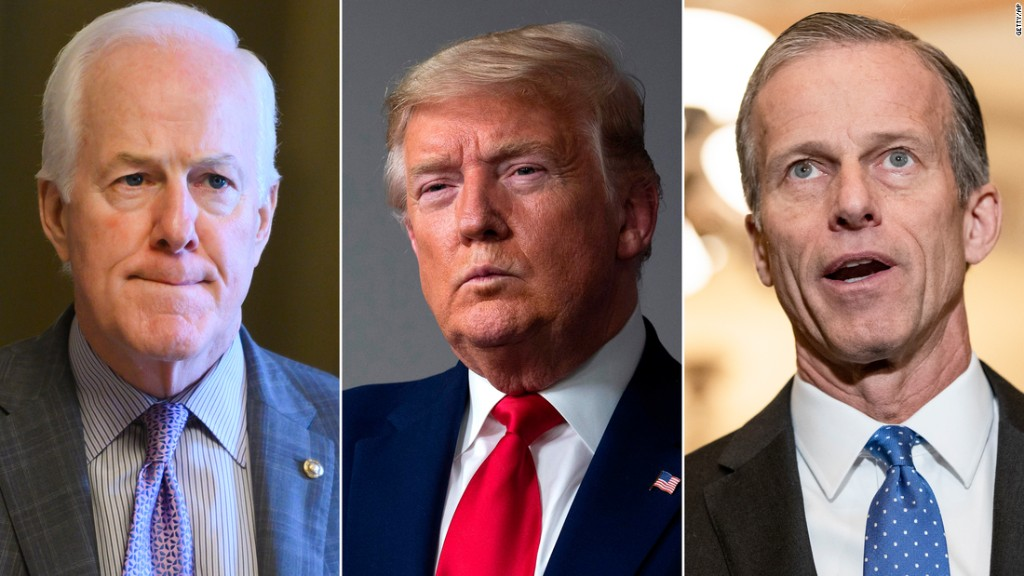 Fearing a loss, GOP senators keep distance from Trump and begin to ponder party's future