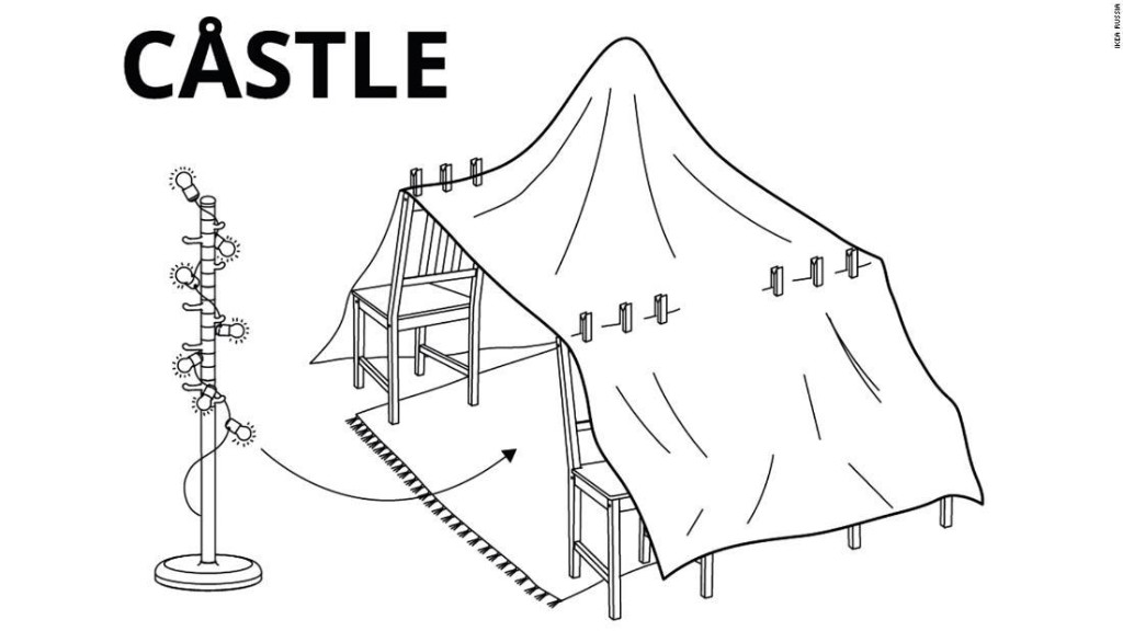 Ikea's instructions for building the best pillow forts are what every parent needs right now
