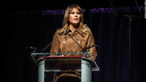 Melania Trump booed at youth opioid summit in Baltimore