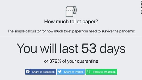 This online toilet paper calculator will tell you just how long your supply will last