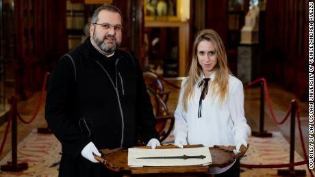 5,000-year-old sword is discovered by an archaeology student at a Venetian monastery