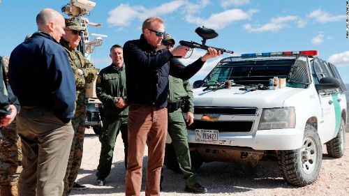 The acting defense secretary fired a weapon at the border. Here's why that's unusual