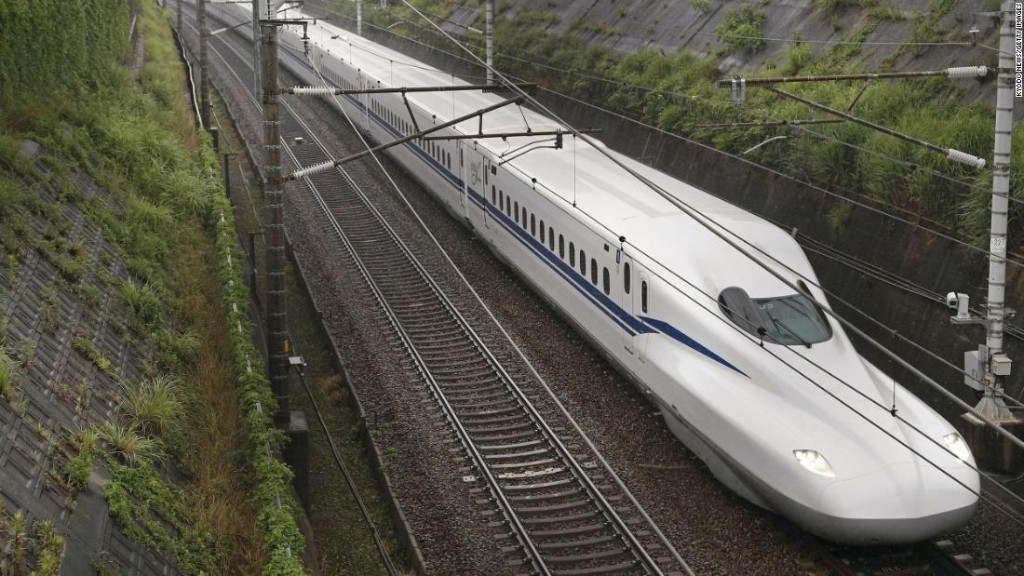 Japan debuts new bullet train that can run during an earthquake