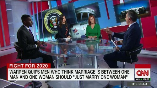 GOP panelist: Warren gay marriage quip: 'built to go viral on Twitter, but Twitter is not the general electorate'