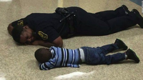 This picture of a cop consoling a little boy will give you all the feels