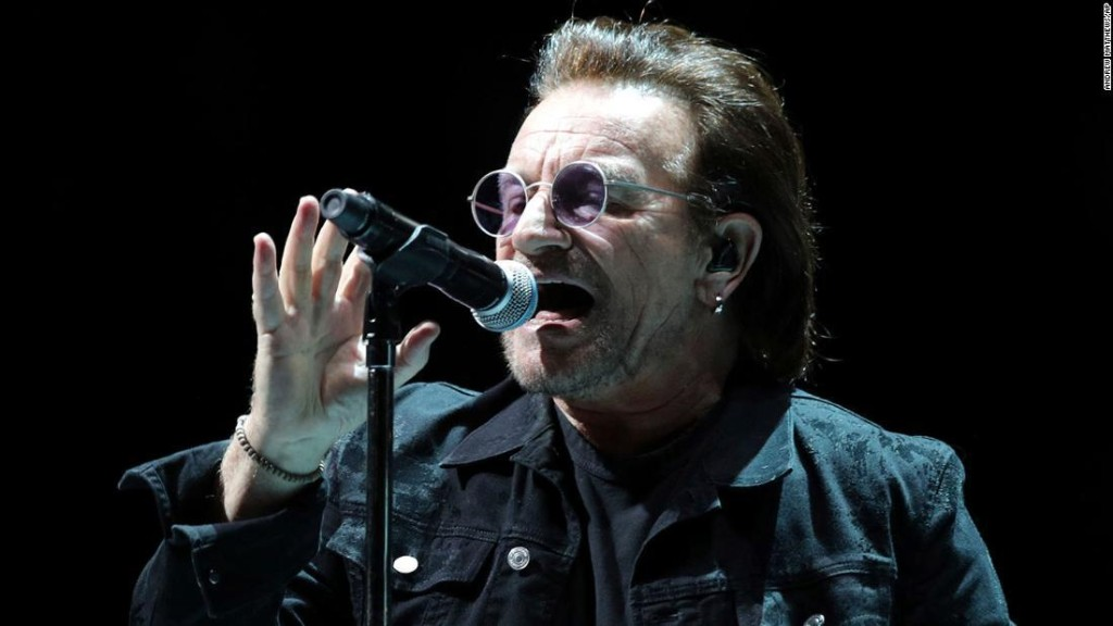 Bono celebrates 60th birthday by sharing playlist of 60 songs that saved his life