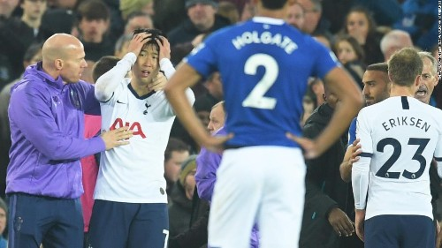 Horror injury to Andre Gomes overshadows Spurs draw at Everton