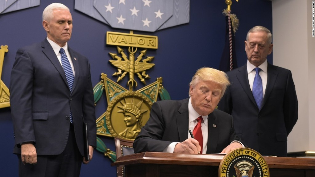 Trump signs executive action to keep out 'radical Islamic terrorists'