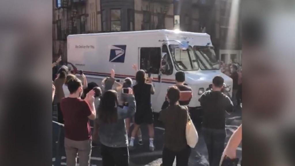 USPS workers hailed as heroes after Joe Biden's win