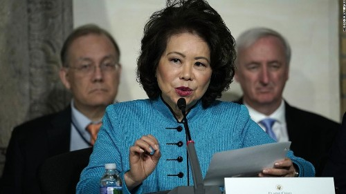 House committee launches ethics investigation into Elaine Chao's ties to shipping company run by her family