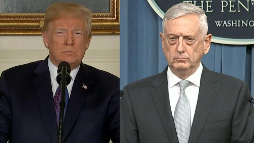 NYT: Trump and Mattis disagreed over congressional approval for Syria strike