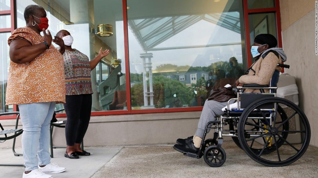 Visits to nursing homes resume in half of US states to the relief of families