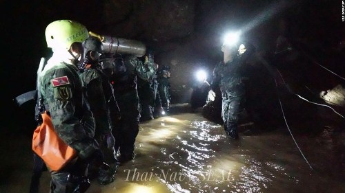 Thai cave rescuers free four more boys as operation gathers pace