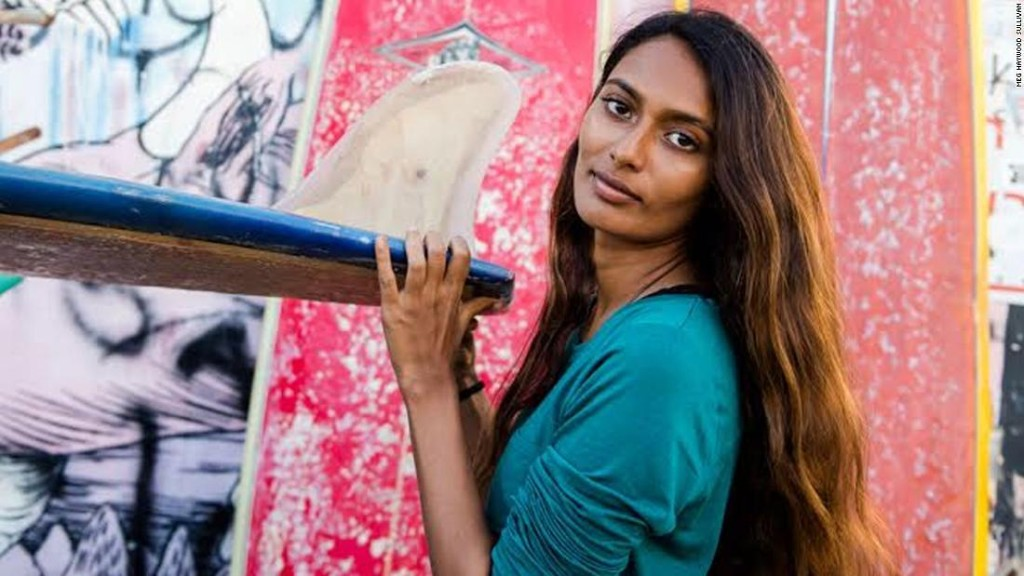 India's first professional female surfer is changing her country's perception of the ocean