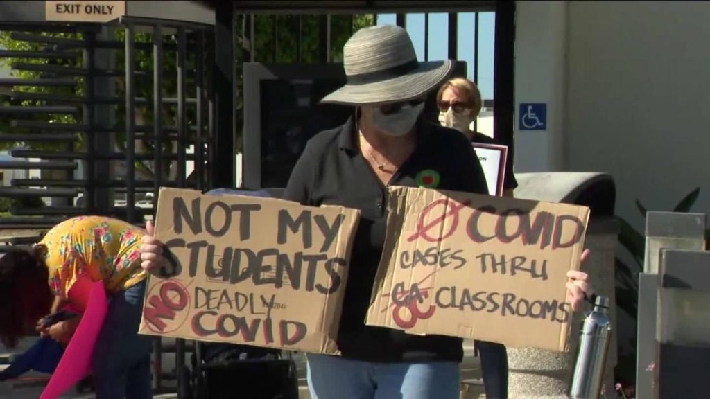 Orange County's largest school districts won't comply with Board of Education vote to return to classroom