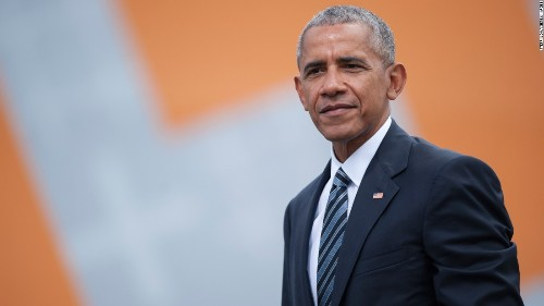 Obama set for first political event since leaving office