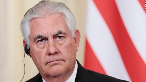 Putin meets with Tillerson in Russia as Syria rift deepens