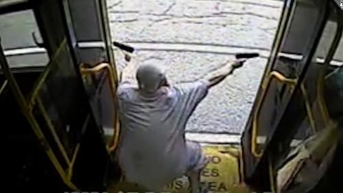 Deadly bus shootout caught on camera