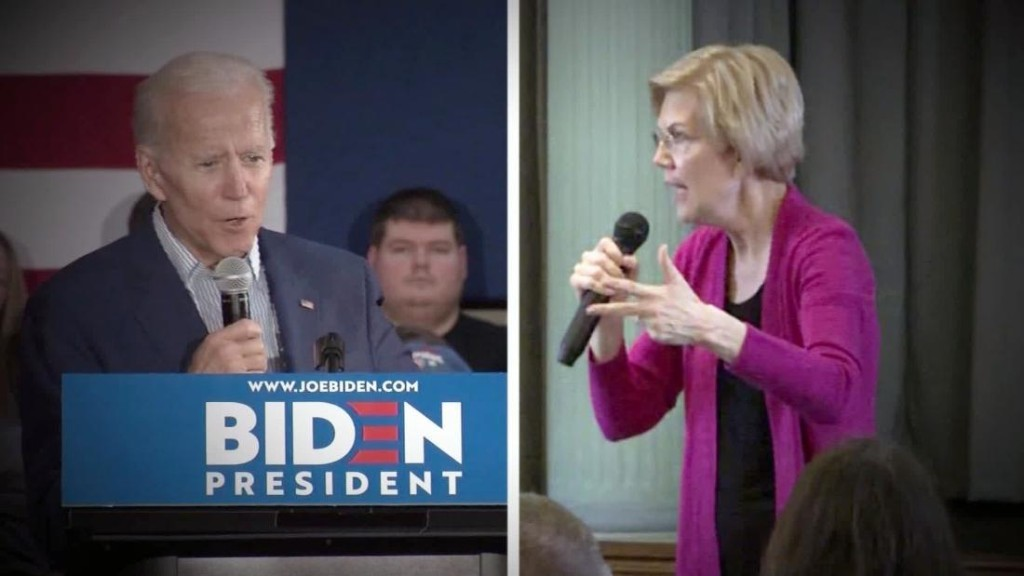 Biden endorses Warren's bankruptcy plan, calling it 'one of the things that I think Bernie and I will agree on'