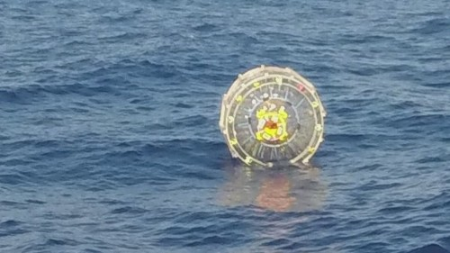Man running in inflatable bubble rescued off coast of Florida
