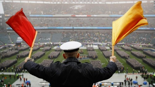 Army and Navy launch internal investigations into controversial hand gesture captured on video