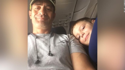 She worried her son with autism would bother his seatmate on the plane. Instead, they ended up travel buddies.