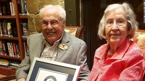 A husband and wife in Texas are officially the oldest living couple in the world