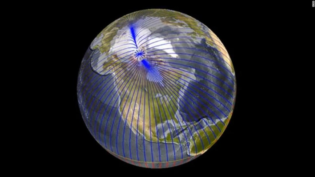 Earth's magnetic north pole is heading for Russia and scientists are puzzled