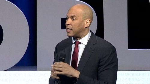 Booker at hometown rally: 'We can't wait' for justice