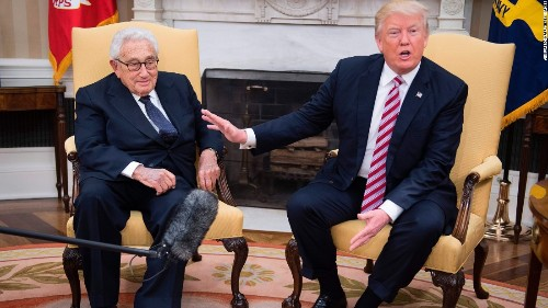 And then Henry Kissinger walks in...: 24 hours in the Donald Trump circus