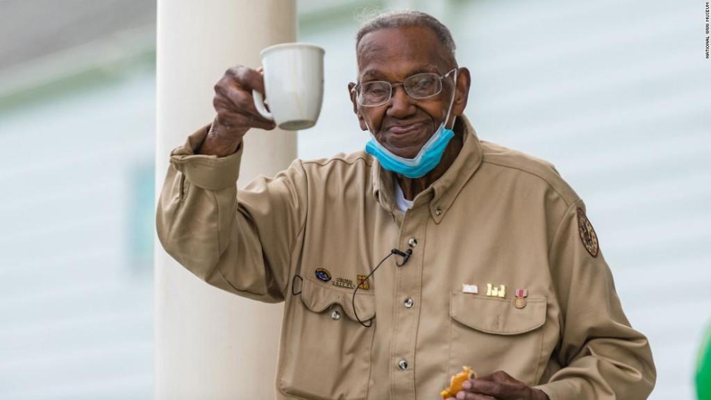 America's oldest World War II veteran celebrates his 111th birthday