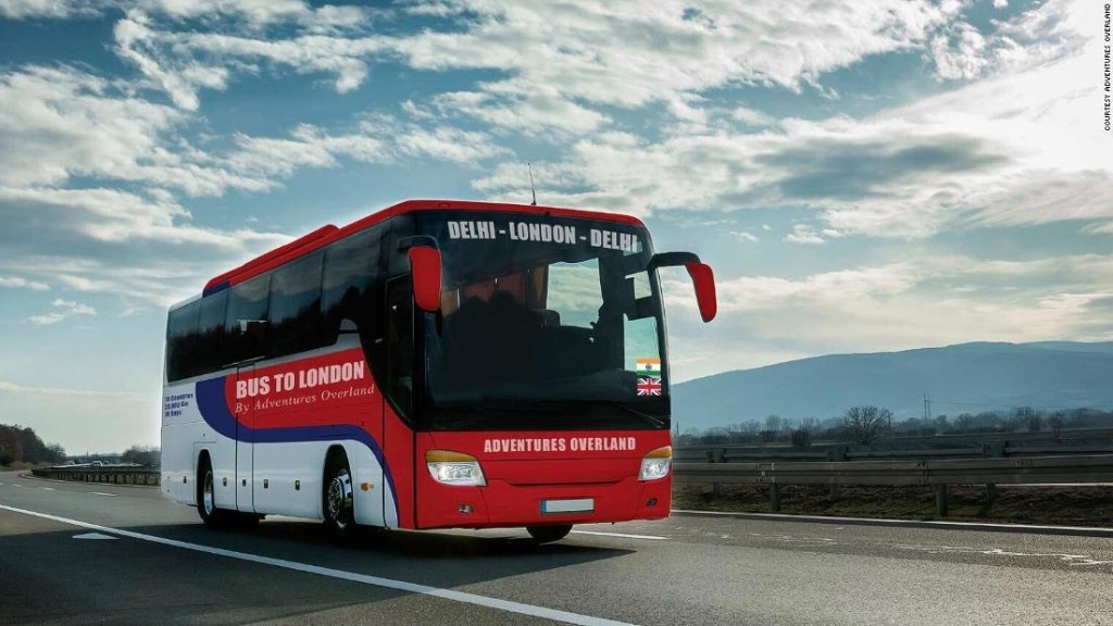New bus trip will take you from Delhi to London in 70 days