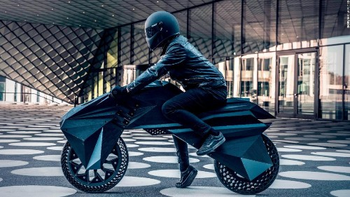 Electric 3D-printed motorbike provides a glimpse into the future of green travel