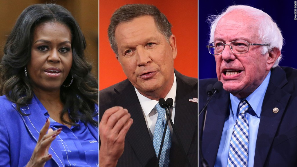Michelle Obama, Bernie Sanders and John Kasich expected to join forces for first night of Democratic convention