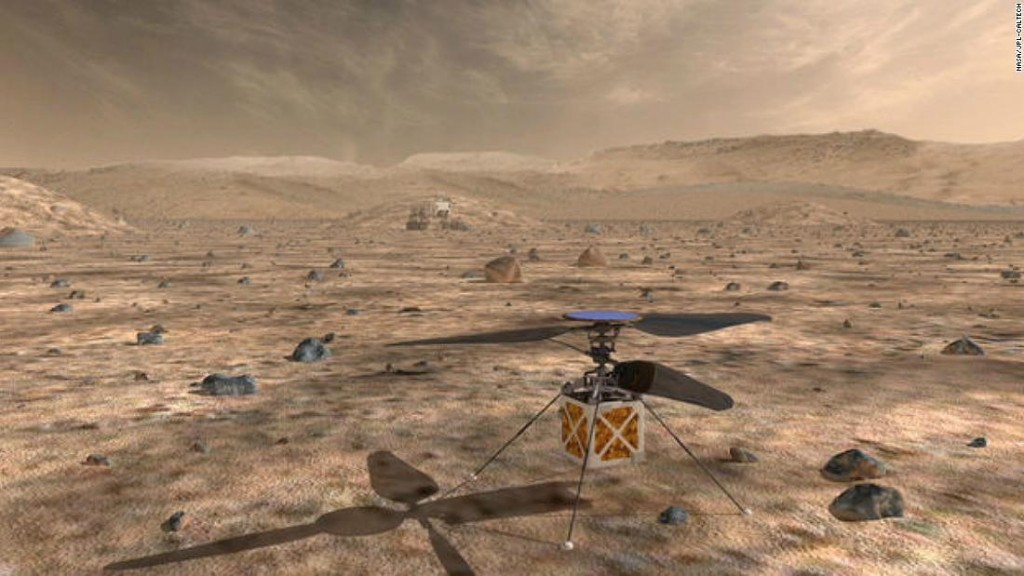 NASA is sending a helicopter to Mars. It'll be the first aircraft to fly on another planet