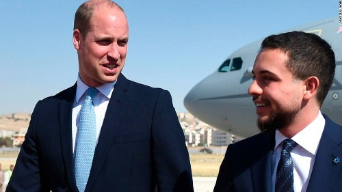 Prince William arrives in Jordan as he starts historic Middle East tour