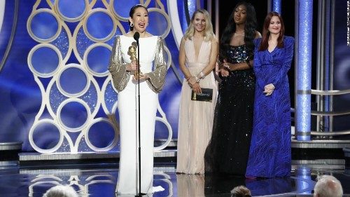 Sandra Oh and her parents are Golden Globe MVPs