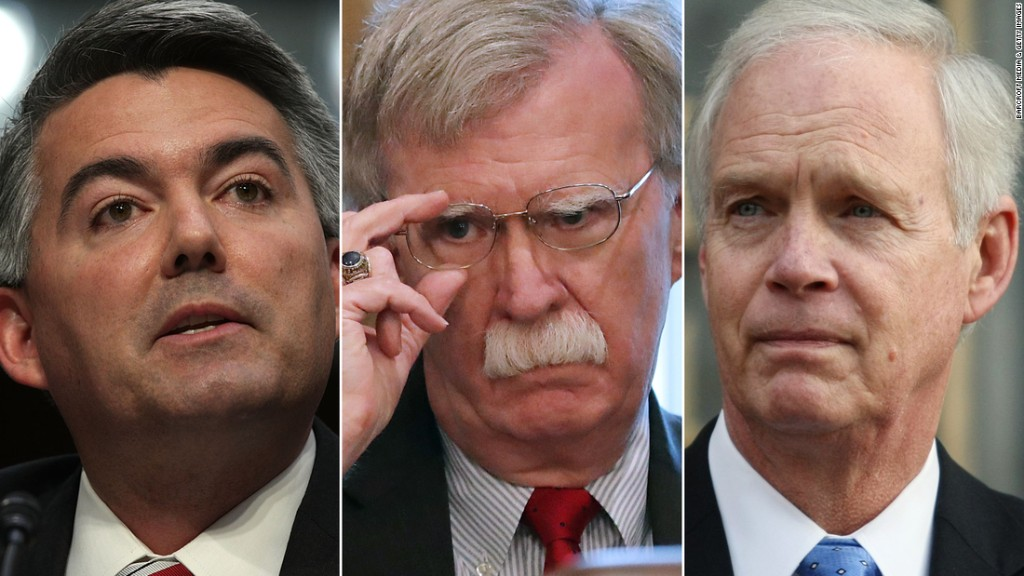 Senate GOP defiant over decision to block Bolton from testifying