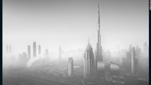 Dark city: Beauty of Dubai skyscrapers captured in monochrome
